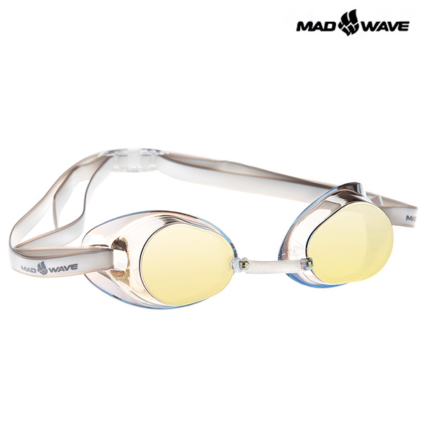 RACER SW MIRROR(YELLOW) MAD WAVE 선수용 노패킹 미러 수경