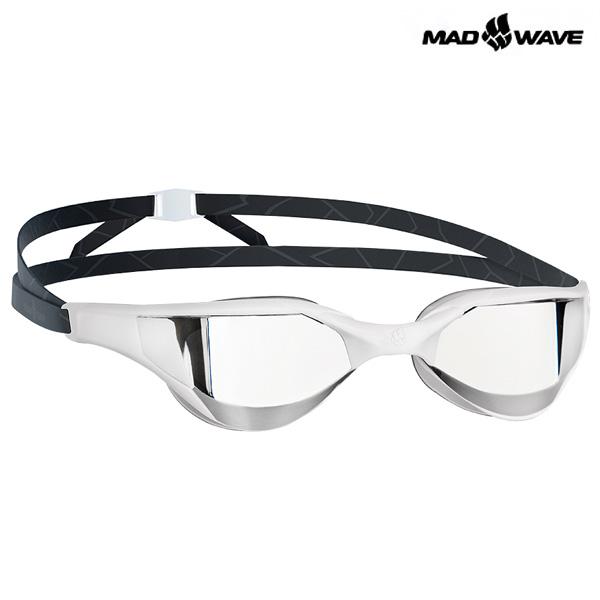 RAZOR Mirror (WHITE) MAD WAVE 선수용 패킹 미러 수경