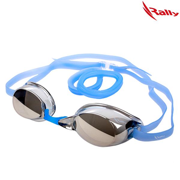 RE412MR-SM-BLUE 랠리 RALLY 노패킹 미러 수경 수영용품