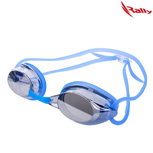 RE413MR-SM-BLUE 랠리 RALLY 노패킹 미러 수경 수영용품