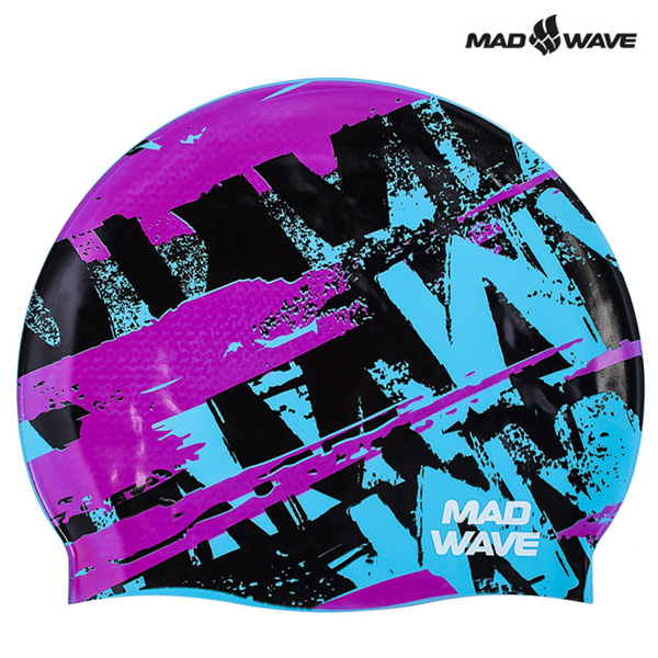 ROY-PINK MAD WAVE 실리콘 수모 수영모