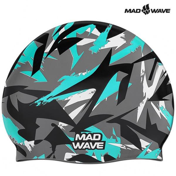 SANFORD-TURQUOISE MAD WAVE 실리콘 수모 수영모
