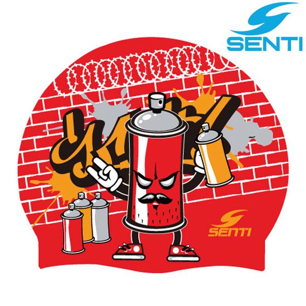 센티 SC-553 그래피티-RED 실리콘 수모