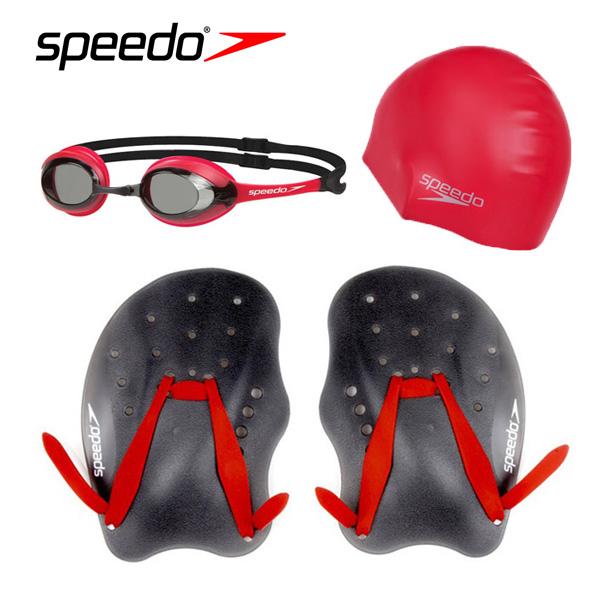 SEA-SA220RD SPEEDO 스피도 패들 수경 수모 SET상품