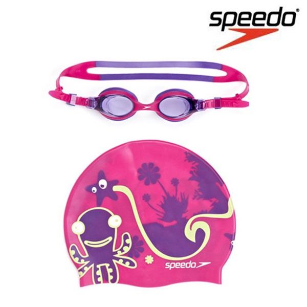 SGJ-SA160PK SPEEDO 스피도 Sea squad Goggle Cap Set 주니어 수경
