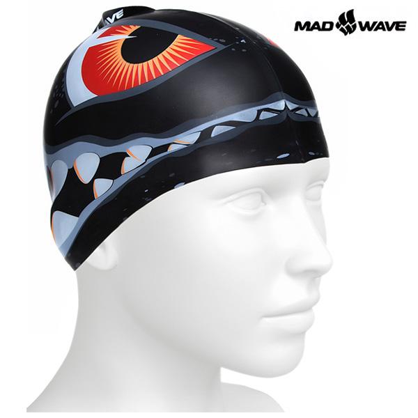 SHARK (BLACK) MAD WAVE 실리콘 수모 주니어