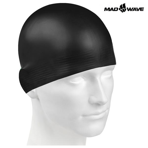 SOLID SOFT(BLACK) MAD WAVE 라텍스 수모 수영모
