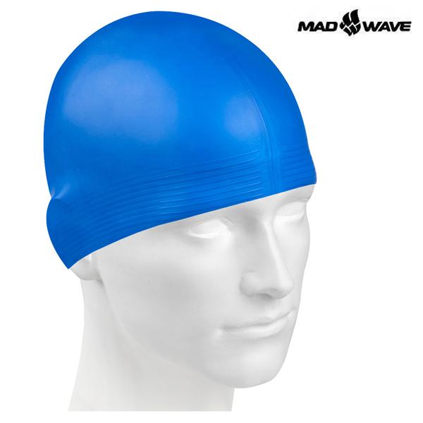 SOLID SOFT-BLUE 매드웨이브 MAD WAVE 실리콘 수모 수영모