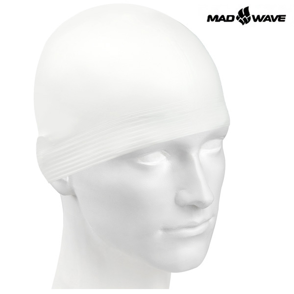 SOLID SOFT(WHITE) MAD WAVE 라텍스 수모 수영모