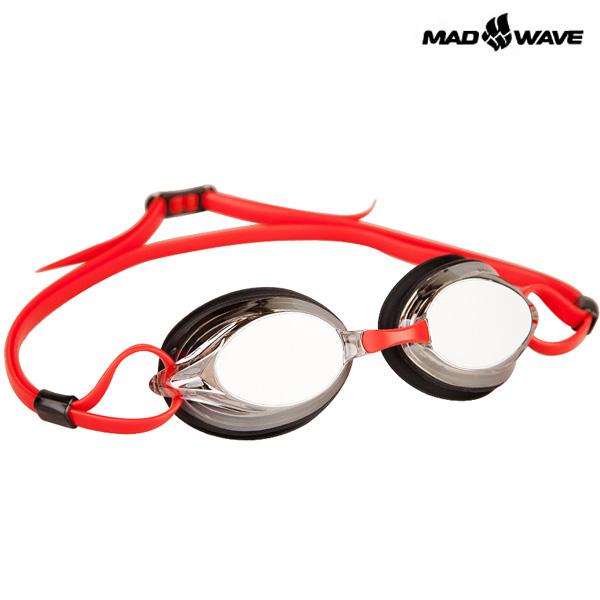 SPURT MIRROR(RED) MAD WAVE 선수용 패킹 미러 수경