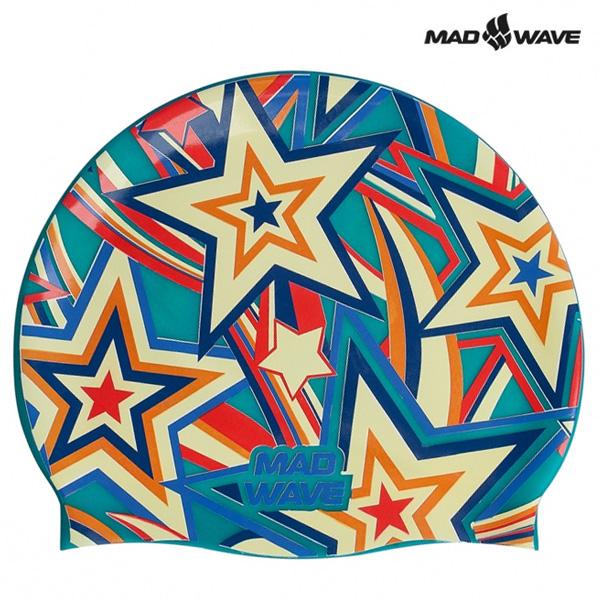 STELLA-TURQUOISE MAD WAVE 실리콘 수모 수영모