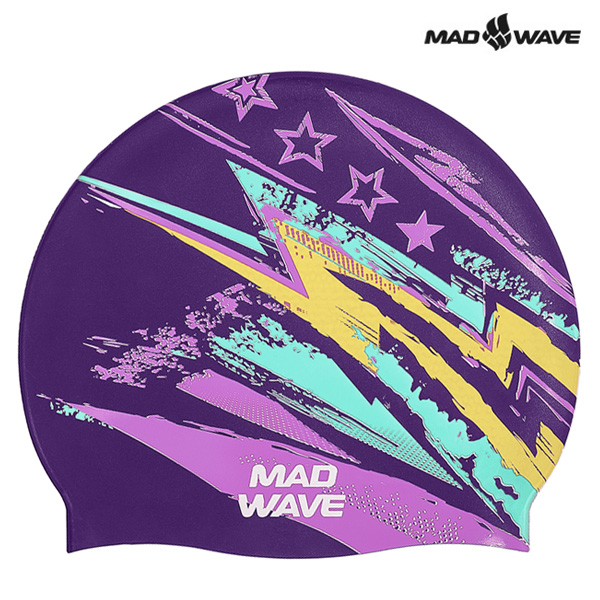STERN-VIOLET MAD WAVE 실리콘 수모 수영모