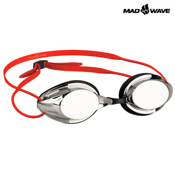 STREAMLINE MIRROR(RED) MAD WAVE 선수용 패킹 미러 수경