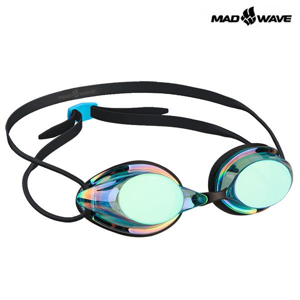 STREAMLINE RAINBOW(BLUE) MAD WAVE 선수용 패킹 미러 수경