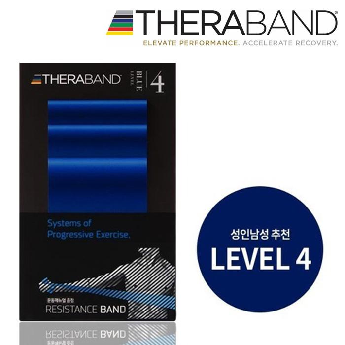 세라밴드 2M 운동밴드 저항 근력-BLU블루-LV4