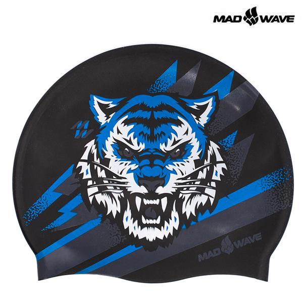 TIGRIS-BLUE 매드웨이브 MAD WAVE 실리콘 수모 수영모