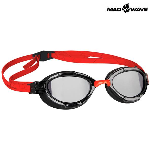 TRIATHLON(RED) MAD WAVE 패킹 노미러 철인3종 수경