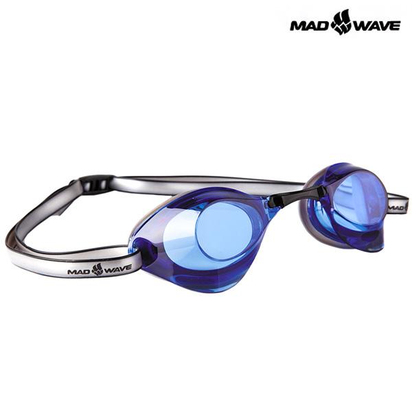TURBO RACER II(BLUE) MAD WAVE 선수용 패킹 노미러 수경