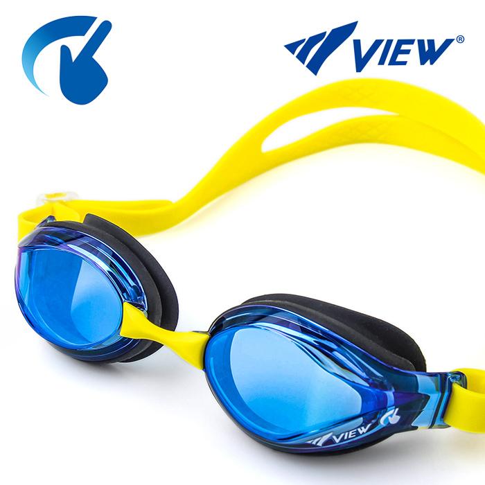 V760JASAM-BLBL 뷰 VIEW 미러렌즈 주니어 패킹 수경