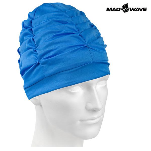 VELCRO(BLUE) MAD WAVE 스판 수모 수영모