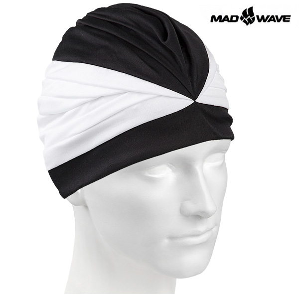 VELCRO II(BLACK) MAD WAVE 스판 수모 수영모
