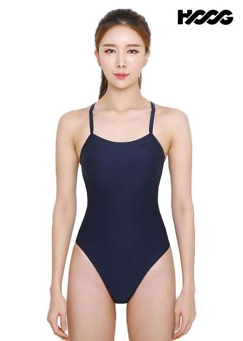 후그 WHT1060 하이컷 오픈 X-back 탄탄이 여성 원피스 수영복