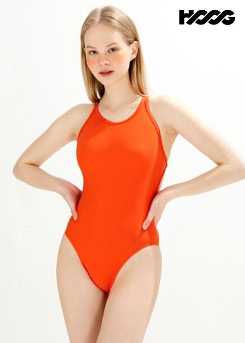 후그 WHT1416 하이컷 트윈 X-back 탄탄이 여성 원피스 수영복