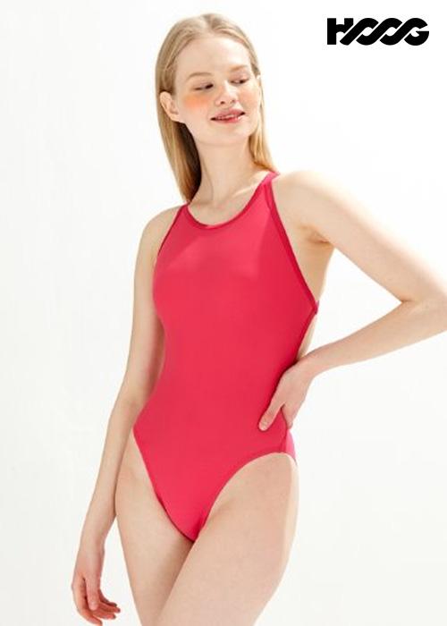 후그 WHT1417 하이컷 트윈 X-back 탄탄이 여성 원피스 수영복