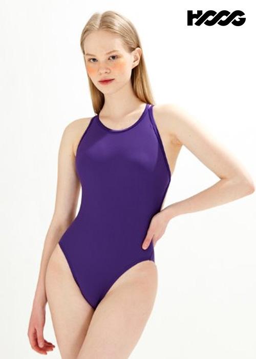 후그 WHT1419 하이컷 트윈 X-back 탄탄이 여성 원피스 수영복