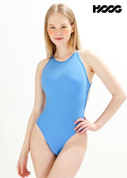후그 WHT1420 하이컷 트윈 X-back 탄탄이 여성 원피스 수영복