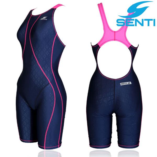 센티 WJD-1053 글라이드 퓨젼 여아동 선수용 5부 수영복