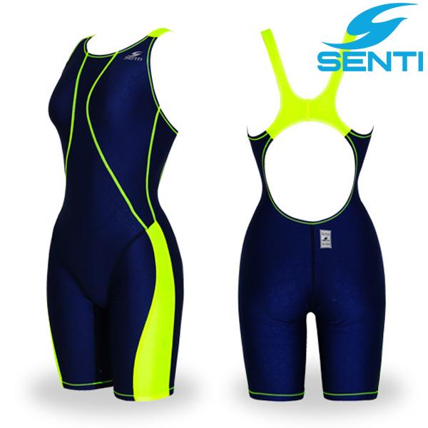 센티 WJD-1056 글라이드 퓨젼 여아동 선수용 5부 수영복