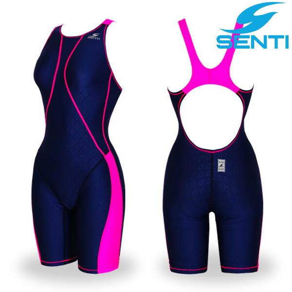 센티 WJD-1057 글라이드 퓨젼 여아동 선수용 5부 수영복