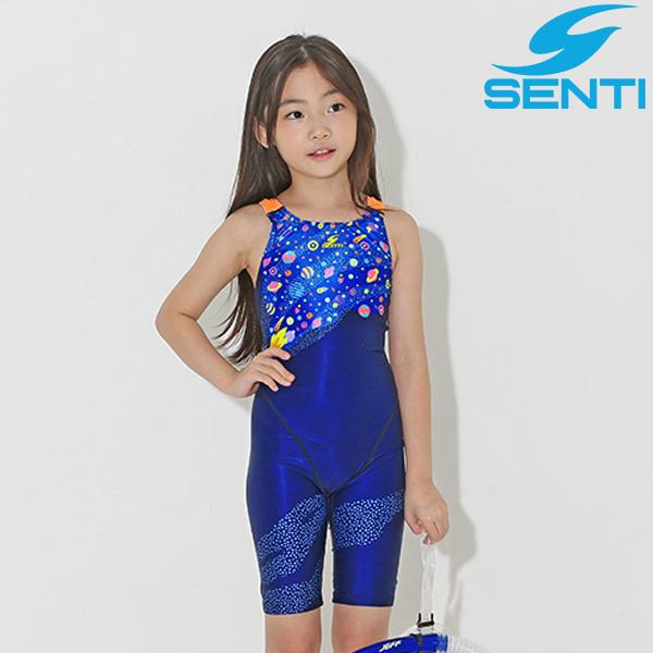 센티 WJDT-9002-NVOR 별빛탐험 여아동 선수용 5부 수영복
