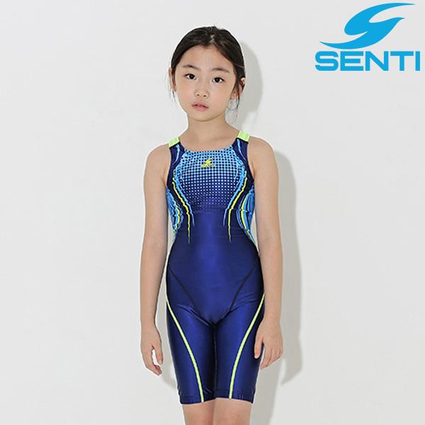 센티 WJDT-9006-NVLM 베스타 여아동 선수용 5부 수영복