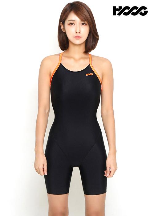 후그 WLA1054 레귤러핏 3부컷 X-back 여성 반전신 수영복