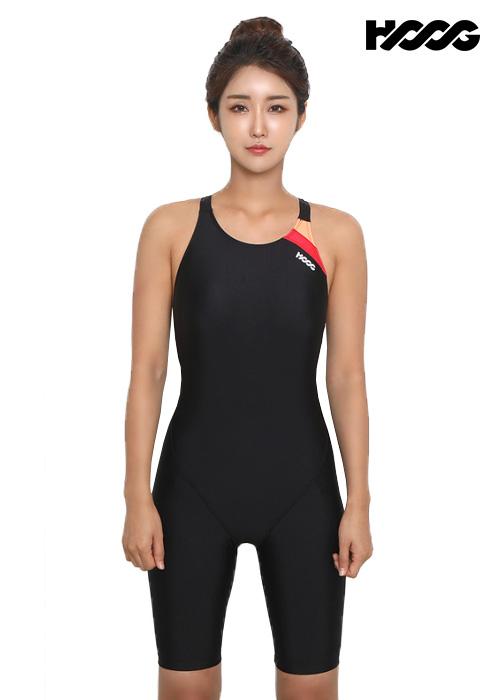 후그 WLA1166 레귤러핏 5부컷 Y-back 여성 반전신 수영복