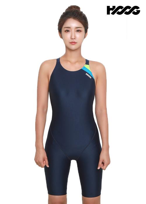 후그 WLA1167 레귤러핏 5부컷 Y-back 여성 반전신 수영복