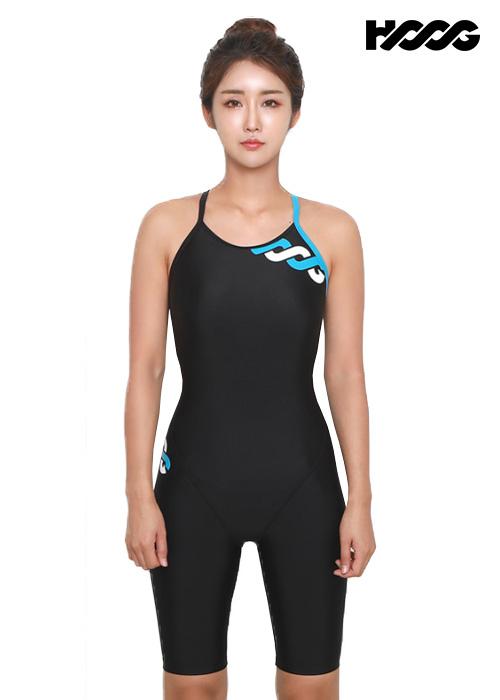 후그 WLA1172 슬림핏 5부컷 란제리 X-back 여성 반전신 수영복