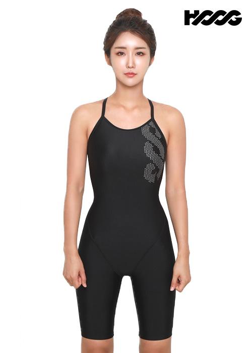 후그 WLA1174 슬림핏 5부컷 란제리 X-back 여성 반전신 수영복