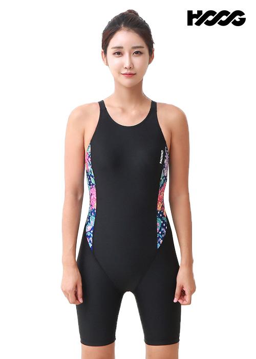 후그 WLA946 레귤러핏 3부컷 U-back 여성 반전신 수영복