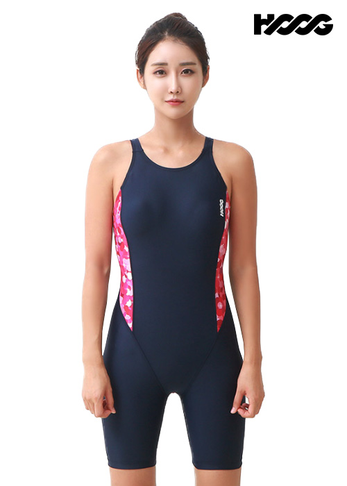 후그 WLA948 레귤러핏 3부컷 U-back 여성 반전신 수영복