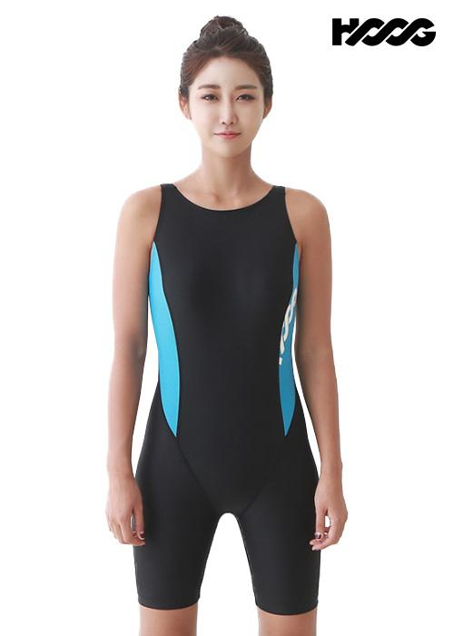 후그 WLA949 레귤러핏 3부컷 U-back 여성 반전신 수영복