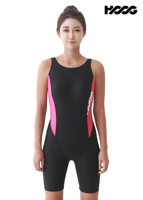 후그 WLA950 레귤러핏 3부컷 U-back 여성 반전신 수영복