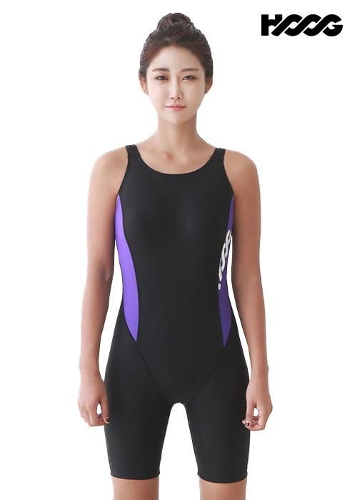 후그 WLA951 레귤러핏 3부컷 U-back 여성 반전신 수영복