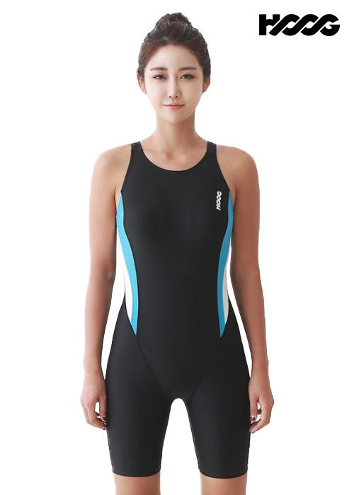 후그 WLA952 레귤러핏 3부컷 U-back 여성 반전신 수영복