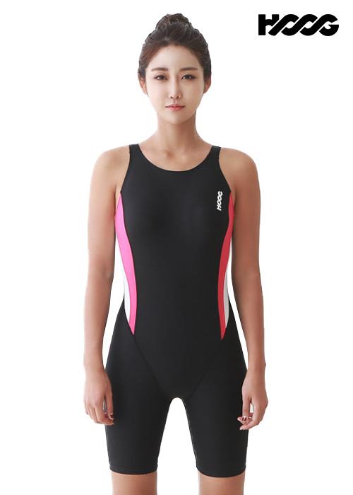 후그 WLA953 레귤러핏 3부컷 U-back 여성 반전신 수영복