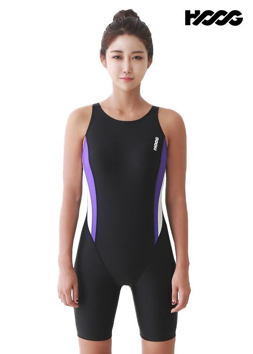 후그 WLA954 레귤러핏 3부컷 U-back 여성 반전신 수영복
