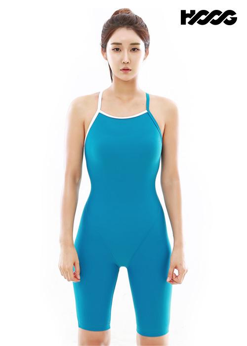 후그 WLT1278 슬림핏 5부컷 란제리 X-back 탄탄이 여성 반전신 수영복