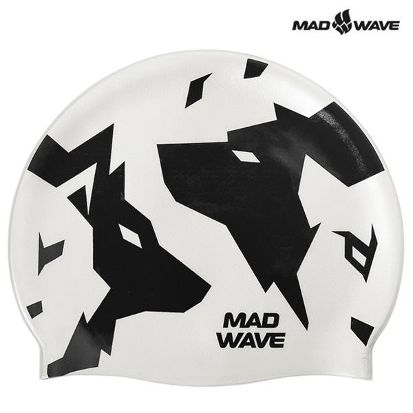 WOLFS-WHITE MAD WAVE 실리콘 수모 수영모